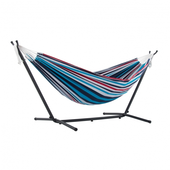 Vivere Denim - Classic double hammock with frame